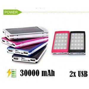 SOLAR POWER BANK 30000 mAh LATARKA ŁADOWARKA Z138