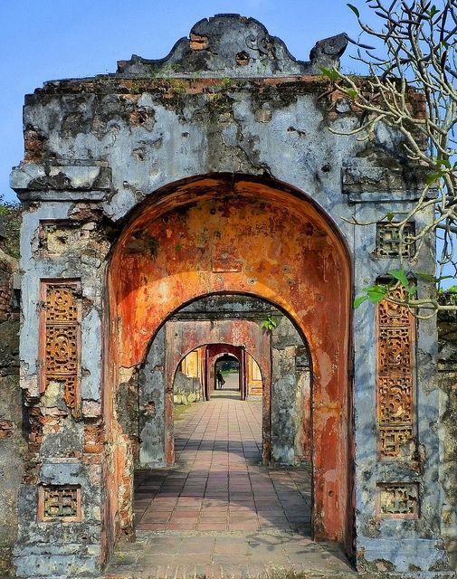 Through the battered archways. Hue, Vietnam.