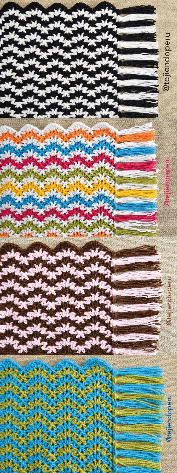 88 best puntos fantasía crochet images on Pinterest | Crochet ...