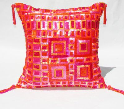 Hot Pink And Orange Throw Pillows : 27 best images about Ideas for Charlei s room on Pinterest Orange pink, Switch plates and ...
