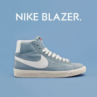 Nike Blazer Mid, at Schuh! Get style ready for spring with the Nike Blazer  in baby blue.