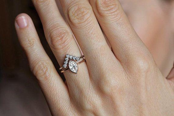 0.5 Carat Diamond Ring Solitaire Diamond Engagement by MinimalVS