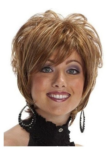 Chin Length Trendy Layers Capless Synthetic Short Wig | Beautiful