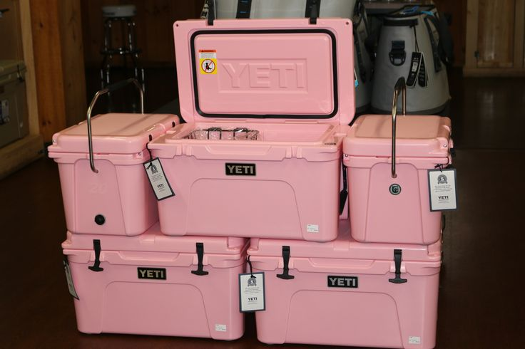 PINK!  Yeti Coolers!!!  Limited Edition.  Celebrating Breast Cancer Awareness. IN STOCK NOW. When they're gone... they're gone.