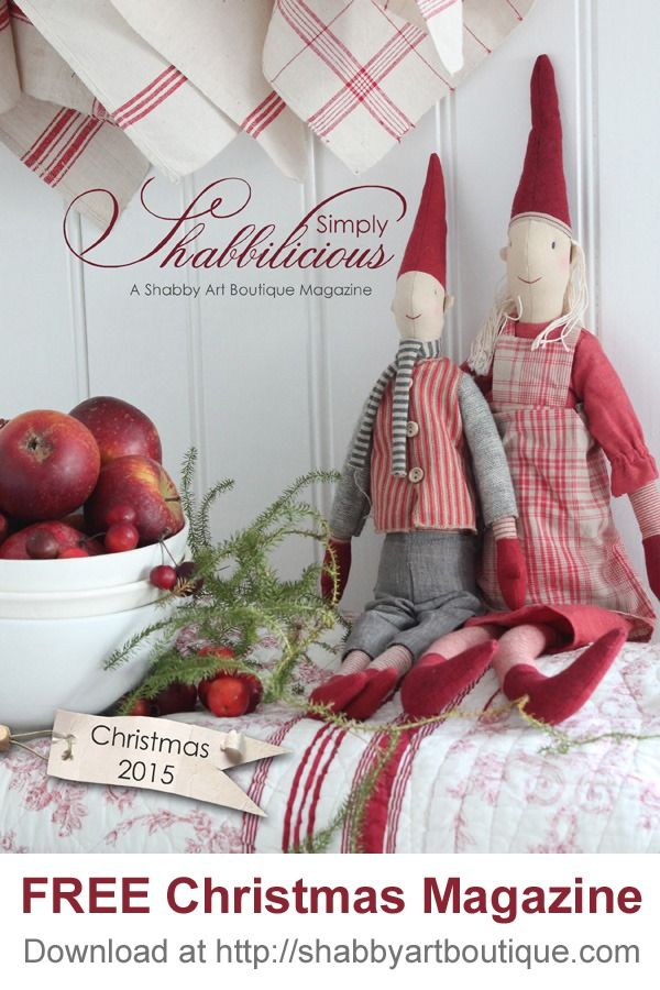 Simply Shabbilicious Christmas Magazine by Shabby Art Boutique. Free to read online or purchase a printed copy - beautiful magazine featuring shabby, cottage, vintage and farmhouse style decorating, inspiration and Christmas projects.