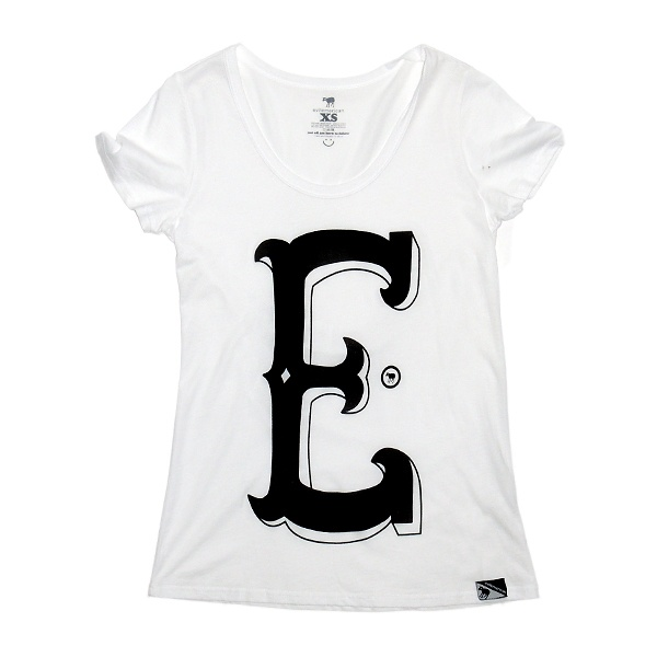 Evilemerican T-shirt Girls - Capital E – White $49.95