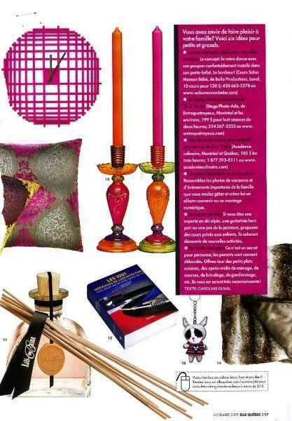 La boutique Casa Luca dans le magazine Elle Québec. www.casaluca.com