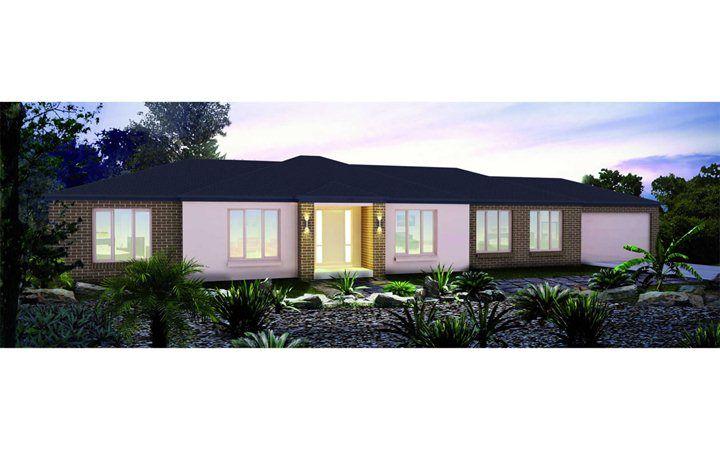 Metricon home designs the kalarney traditional facade for Home designs victoria