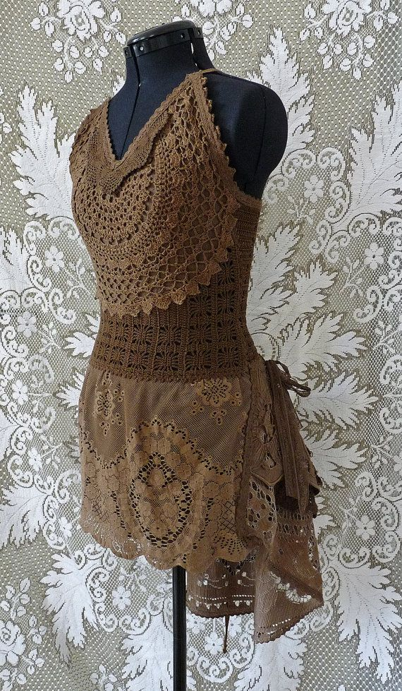 CROCHET LACE DRESS Boho Zigeuner Hippie Sommer von SINDdesign