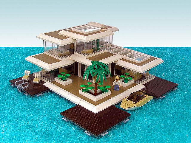 Floating Paradise - 01 by Legohaulic, via Flickr