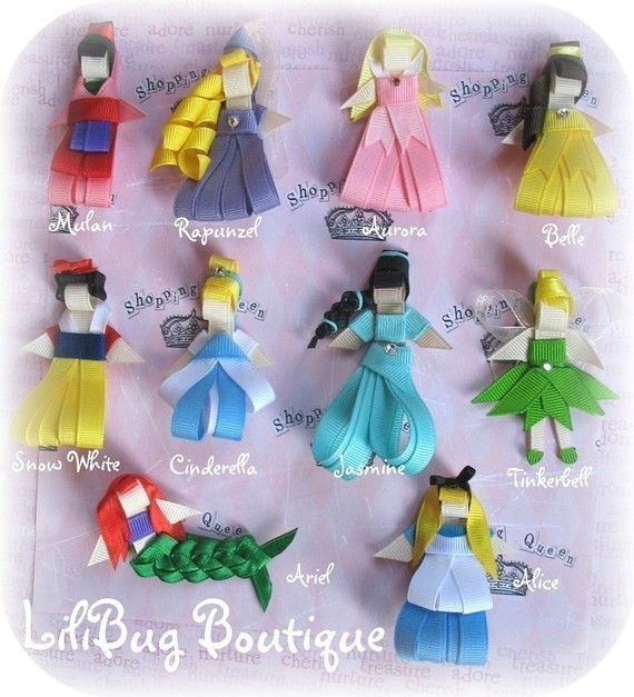 Look at the Rapunzel Hair pretty! made from ribbon, this would be a perfect party favor. LiliBug might make them special, for you...