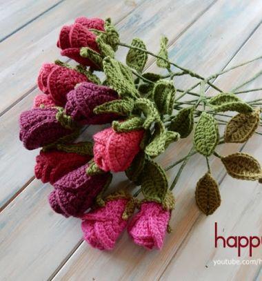 Realistic crochet roses - free crochet pattern & video tutorial // Élethű horgolt rózsacsokor - ingyenes horgolásminta // Mindy - craft tutorial collection // #crafts #DIY #craftTutorial #tutorial