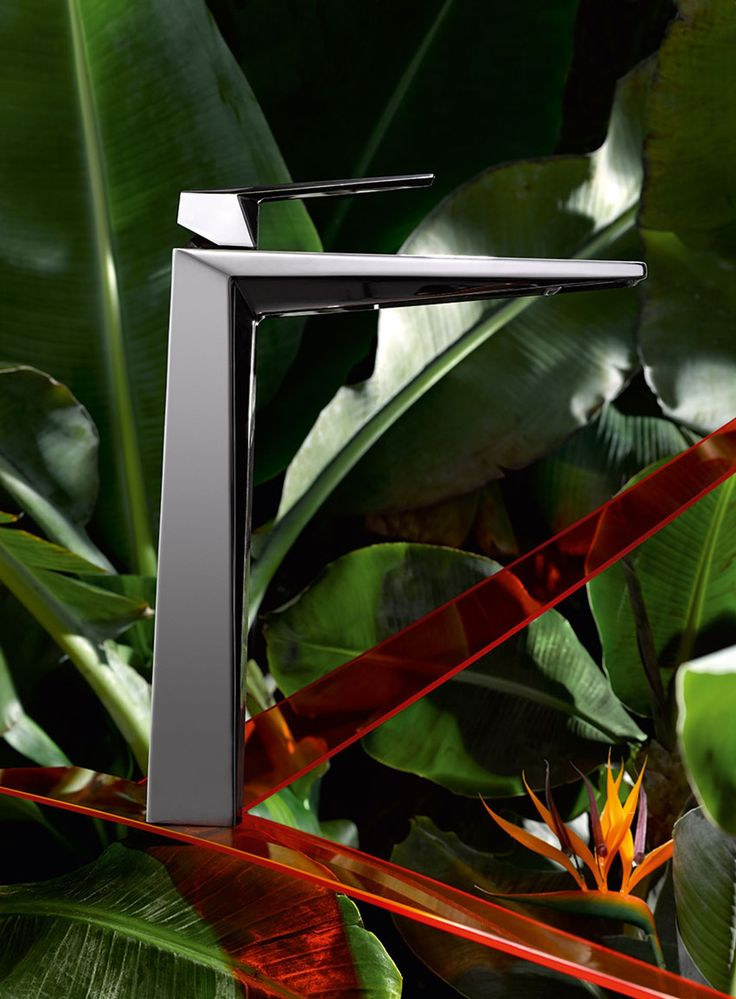Allure brilliant Single-lever mixer for free-standing basins in glossy black