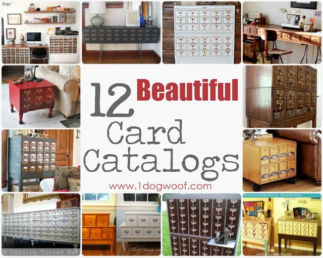 One Dog Woof: Repurposed Card Catalog Roundup