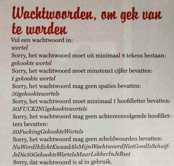 Wortel vs Wachtwoord