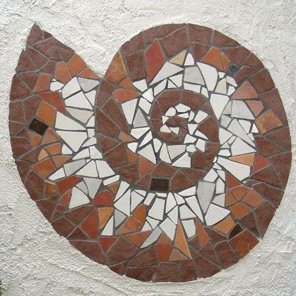 Kursteilnehmerwerk Mosaic Mosaik Gartenmosaik Wandmosaik