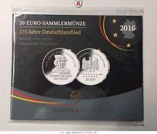 RITTER BRD, 20 Euro 2016 J, 175. Jahre Deutschlandlied, PP #coins