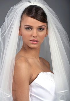 I saw a veil like this just this morning the girl paid $90 for it, We could have easily made it for a third of that, point of this if you are getting married in the near future let me know so we can help you not be ripped off, :)
