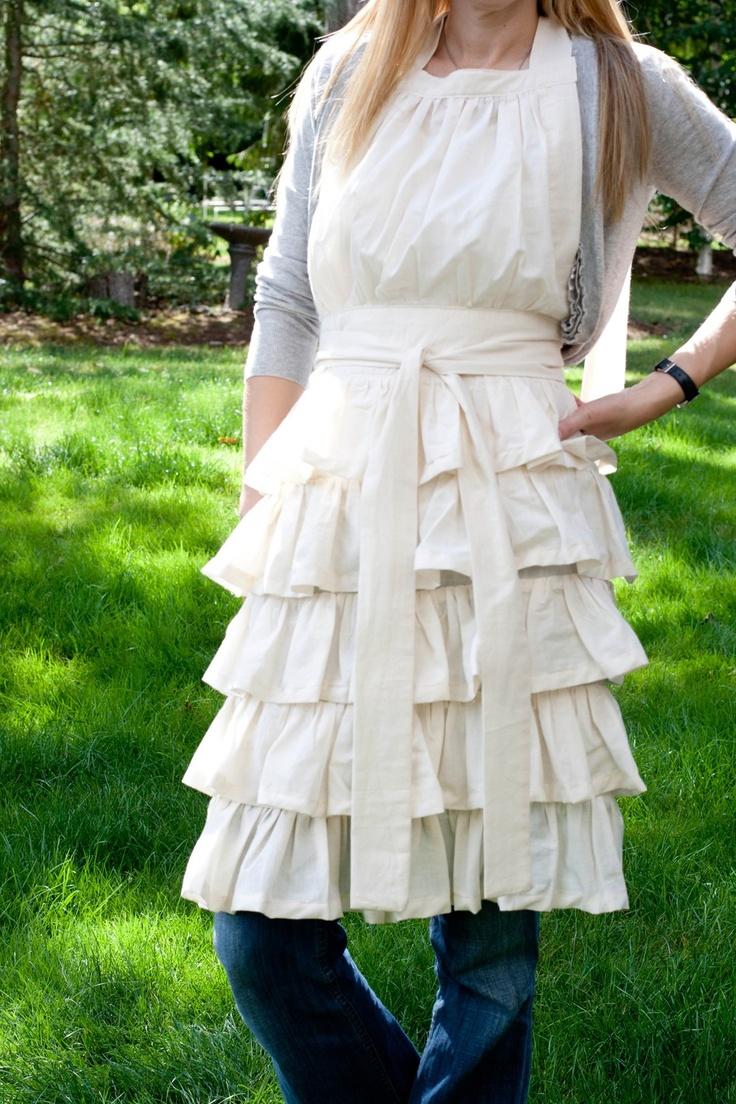 White ruffle apron australia - So Cute I Love The Peasant Farm Style Clothing I Adore These Ruffles
