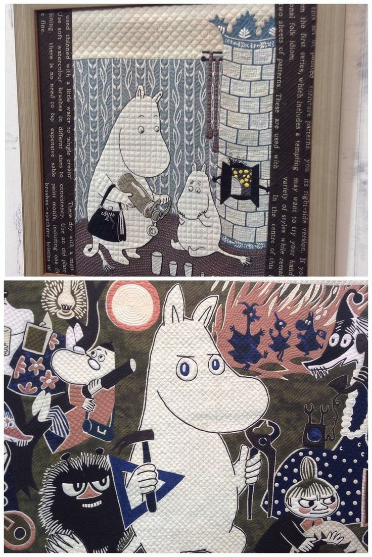 Moomin quilts from the Tokyo International Quilt Festival 2014