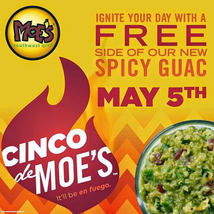 Free spicy guac at moes on 55 moes southwest grill