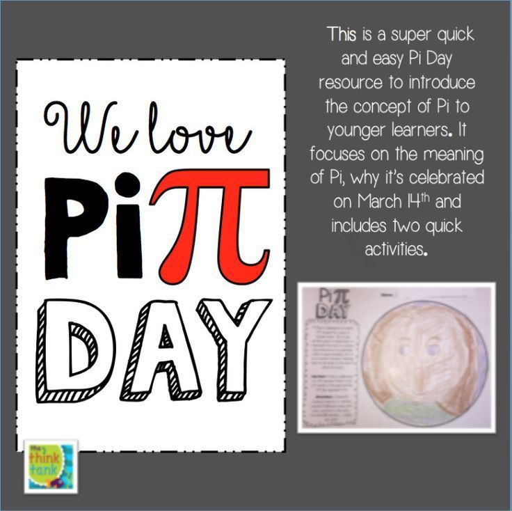 His Is A Super Quick And Easy Pi Day Resource To Explore Will Younger Learners It Focuses On T Elementary Math Lessons Elementary Resources Student Activities