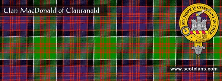 Clan MacDonald of Clanranald Tartan and Crest    http://www.scotclans.com/scottish_clans/clan_macdonald_of_clanranald/