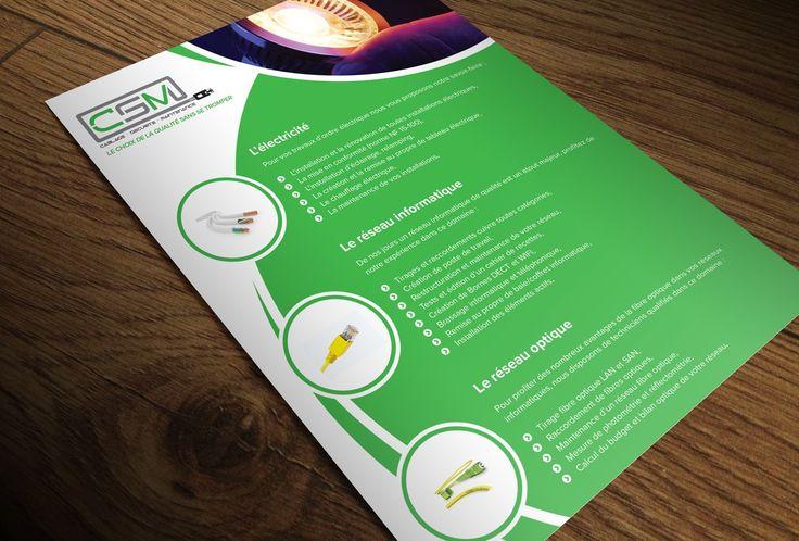 Création d'un flyer pour l'entreprise CSM