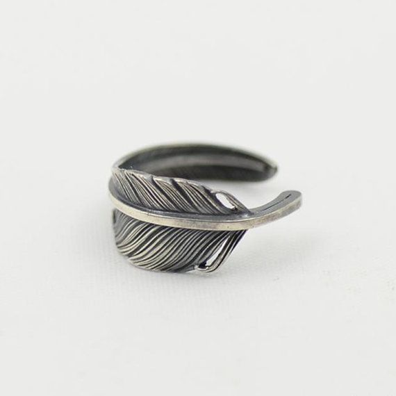 Silver Pinky Ring | Native Inspired Ring | Knuckle Ring | Unisex Midi Ring | Oxidized Silver Ring | Vintage Silver Rings for Men and Women