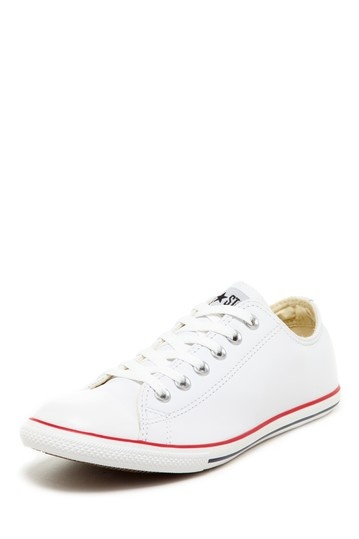 Chuck Taylor Unisex White Leather Slim Ox Sneaker by Converse on @HauteLook