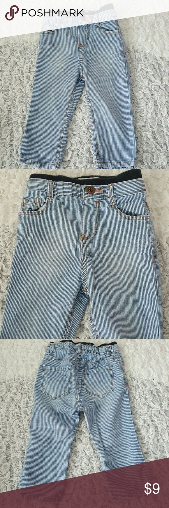Oshkosh Blue Jeans 18 Months  Baby Girl Oshkosh Blue Jeans  Strechy waist band Osh Kosh Bottoms Jeans