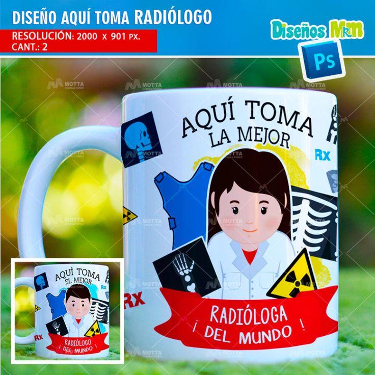 Plantilla diseño Tazas Mug Aqui toma bebe Radiólogo Medico Rayos X huesos- DESIGN SUBLIMATION HERE DRINKS