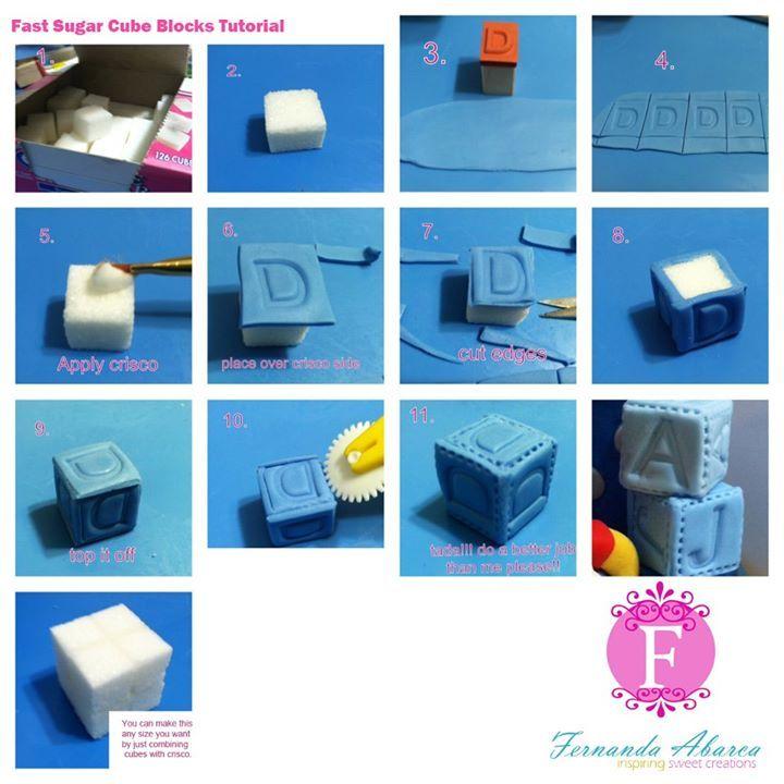 Fast Sugar Cube Blocks Tutorial by Fernanda Arbaca