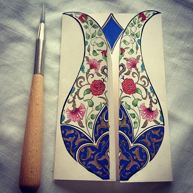 #tezhip#tazhib#art#artwork#turkish #turkishart #handmade #picture #drawing #handmade #mywork#mydesign #designer #islamicart#tulip#lale#deryasyavuz #gelenekselsanatlar #