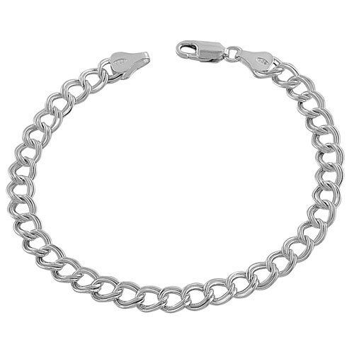 Sterling Silver 6-mm Classic Lite Charm Bracelet (7.5 Inch) Kooljewelry. $20.99. Crafted in sterling silver. Put together a sophisticated look with this unique sterling silver bracelet. Weighs 4.2 gram(s). Comes with a comfortable lobster claw closure. Save 70%!