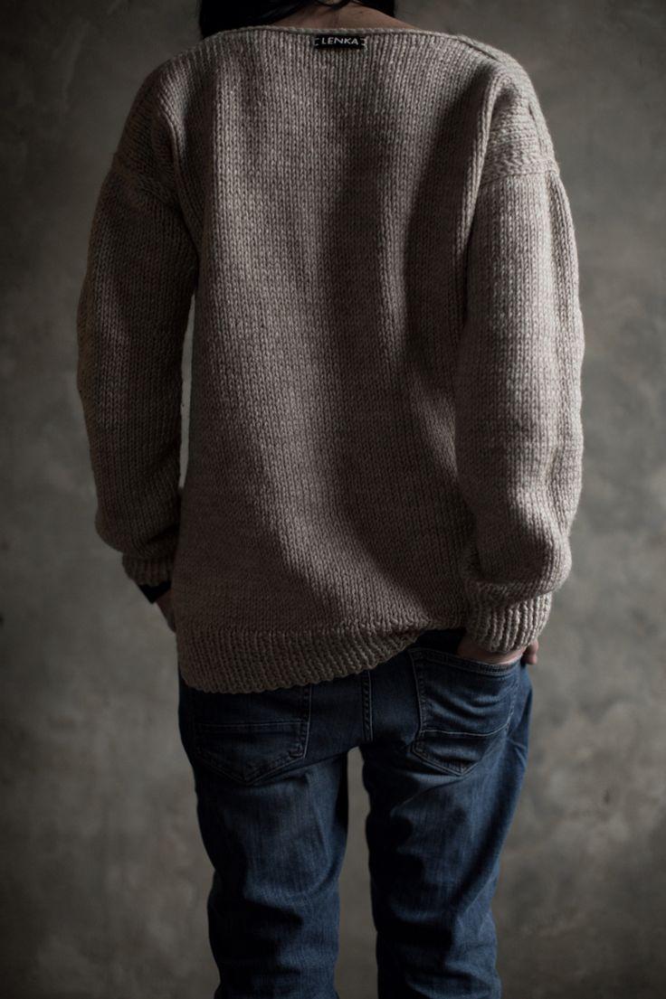 Вязаный зимний свитер oversize by Lenka