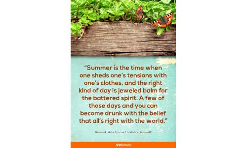 20 sun-kissed quotes about summer and all its sunny glory: Soak it up!