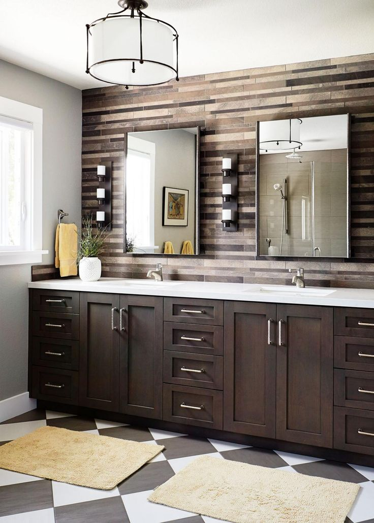 transtional ranch home blends rustic contemporary - Shaker Bathroom 2015