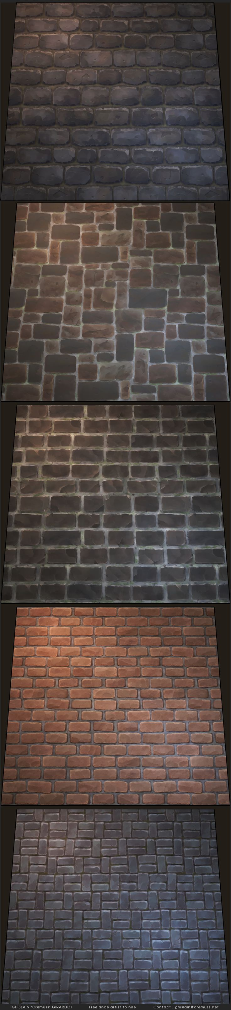 HandPaintedBrickTextures_rc1.jpg (1100×4800)