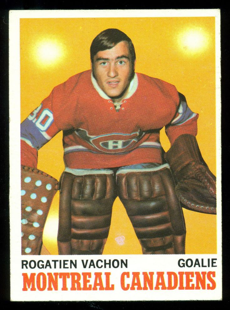 1970 71 TOPPS HOCKEY #49 ROGATIEN VACHON NM MONTREAL CANADIENS FREE SHIP TO USA #MontrealCanadiens