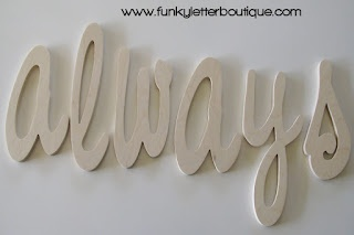 DIY Wooden Home Decor Wall Letters