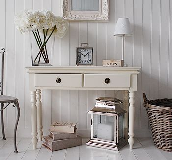 A cream hall console table from The White Lighthouse