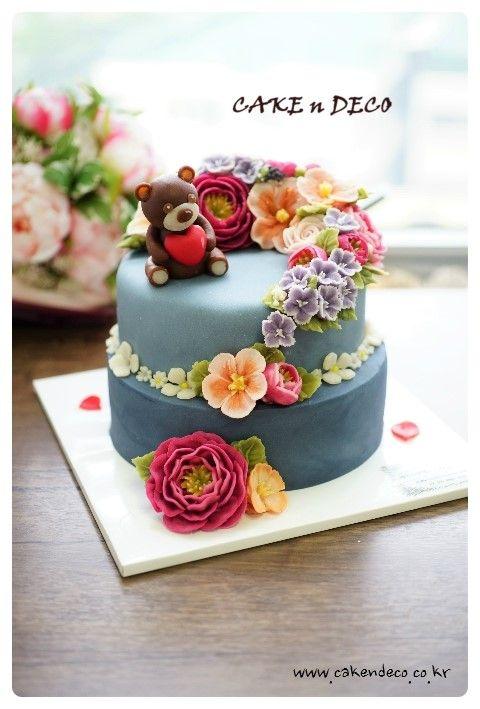 Done by China student. ---앙금플라워 떡 케이크 디자인 반 4th [케이크앤데...