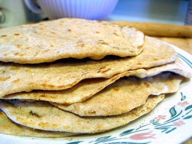 Tortilhas de trigo integral caseiras