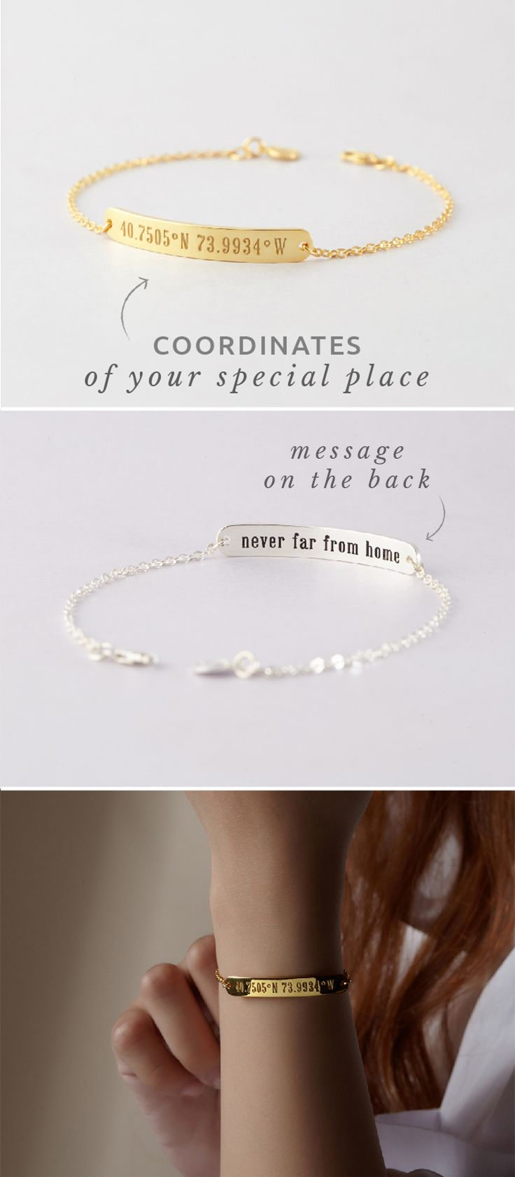 Bar Bracelet with Coordinates • Longitude and Latitude Bracelet • Bar Coordinates Bracelet • Bracelets with GPS coordinates • Silver coordinates bracelet • Engraved coordinates bracelet • Custom bracelet with coordinates • personalized coordinates bracelet • Minimalist bracelet • Best friend bracelet • Best Graduation Gifts • best engagement gifts for couples • happy graduation • farewell gifts • traditional engagement gifts for him • Valentine's Day Gifts
