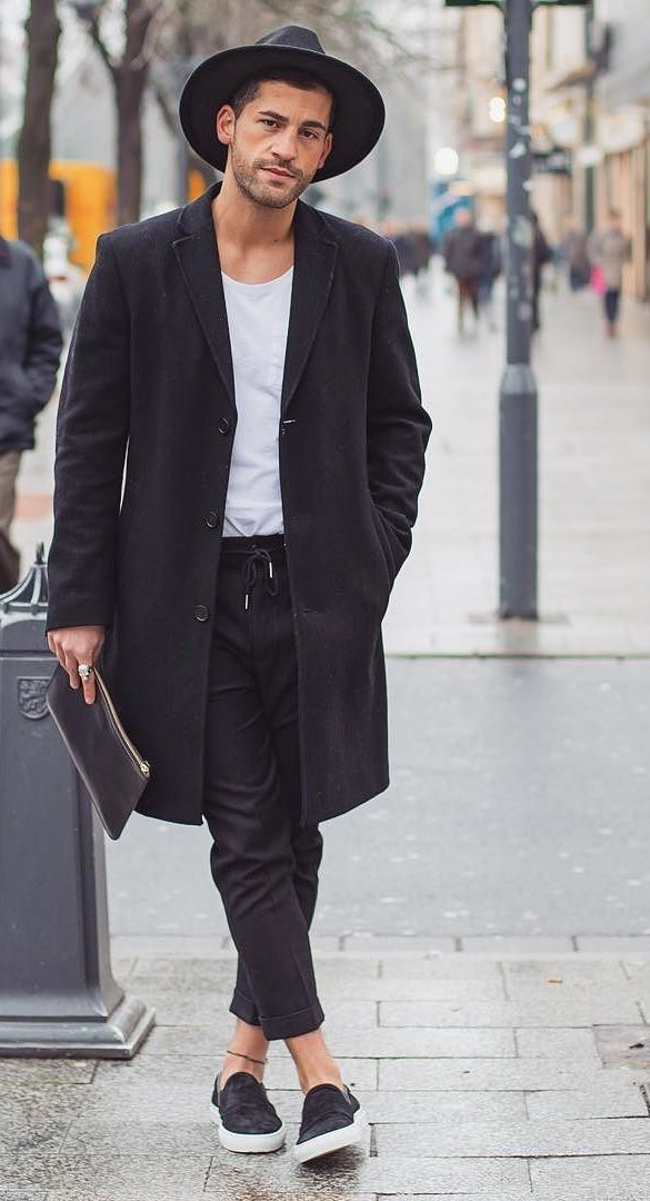 casual black x white menswear street style + fashion