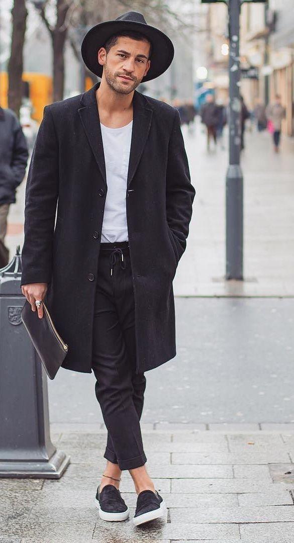 casual black x white menswear street style + fashion