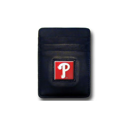 Philadelphia Phillies Leather Money Clip Card Holder