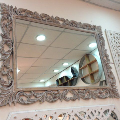 Classic, semi-traditional bordered mirror. Perfect for any home.   To purchase or enquire email us: info@handmadeworld.in or call us: +91 9899440144 (India)