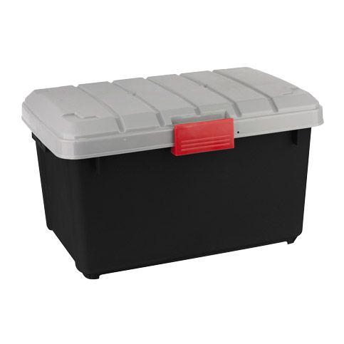 Warrior Tough Box 42 litre. Black/Grey. - Mitre 10